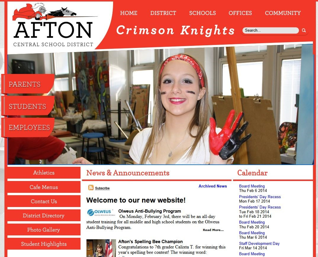 Afton Central School District Homepage