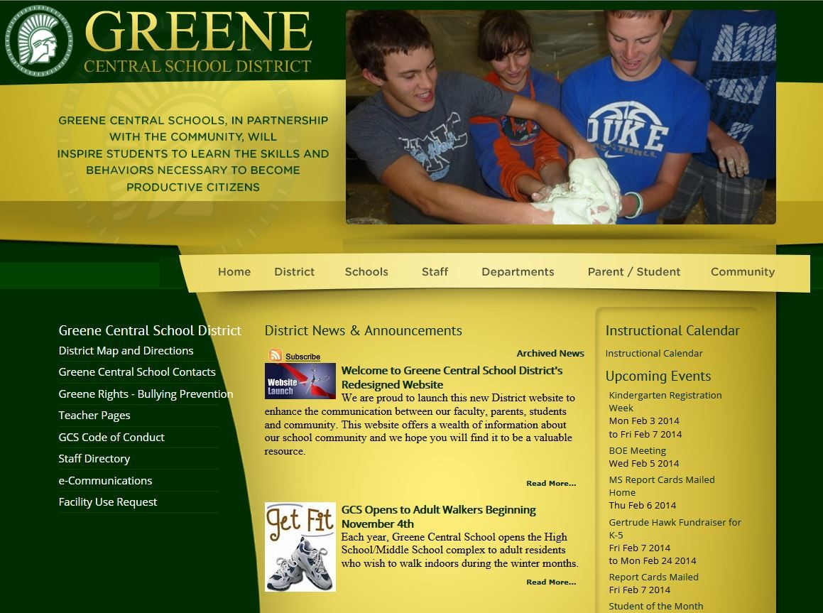Greene Central School District Homepage