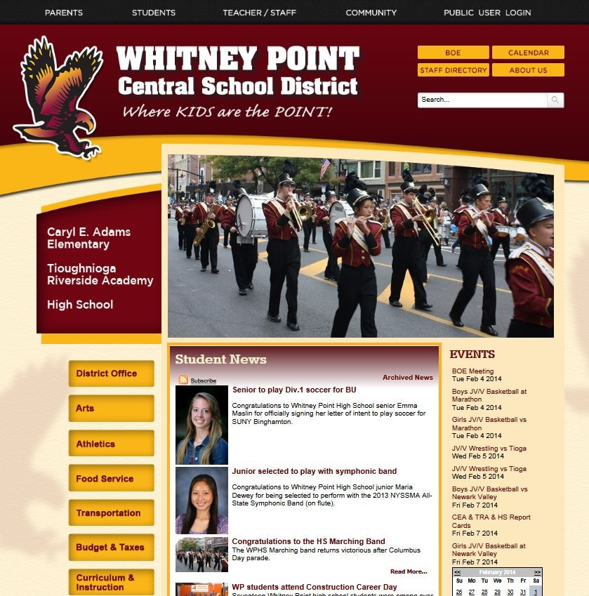 Whitney Point Central School District Homepage