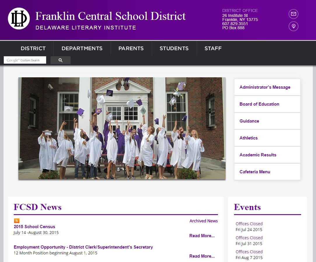 Franklin Central School District Homepage