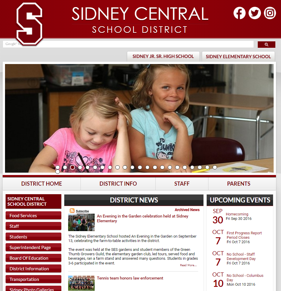 Sidney Central School District Homepage